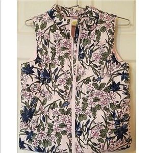 Crazy 8- Girl's Pretty Pink Floral  Puffer Vest